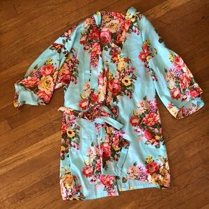 Other - Silk Floral Robe